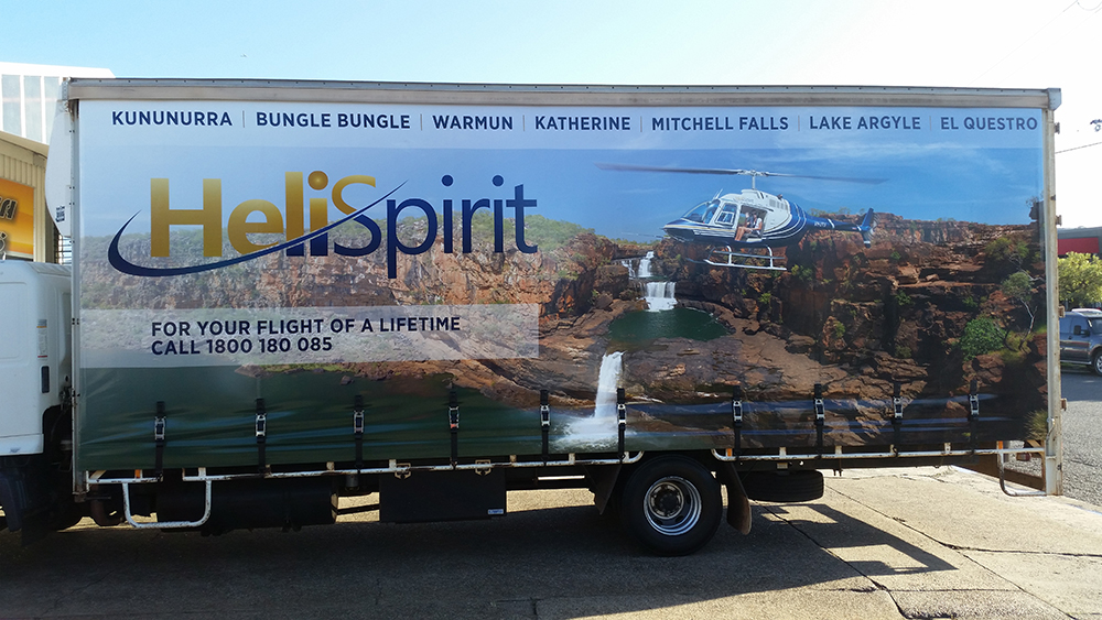 Printed curtainsider